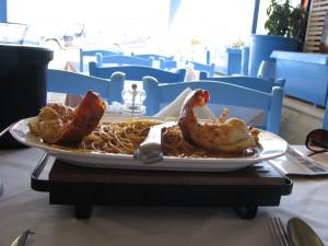 Таверна Кри-Кри: лангуст со спагетти